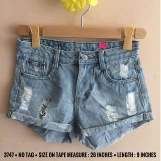 3747 DENIM SHORTS