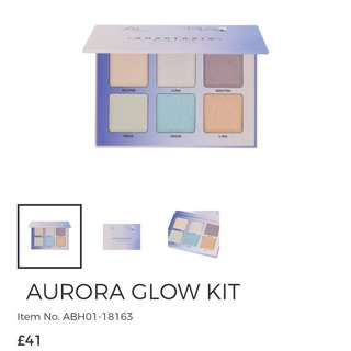 New anastasia Beverly Hills ABH aurora glow kit