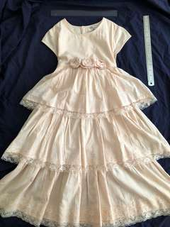 Room 8 Dress light peach/ champagne 9-10