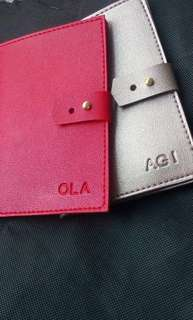 Personalized Passport and Checkbook Holder
