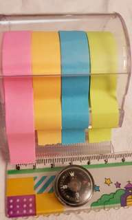 Trendy 4 colors sticky notepad tape