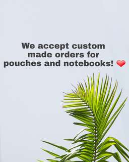 Custom notebooks and pouches