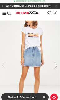 the re-made mini denim skirt
