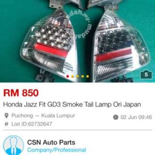 Jazz GD3 Tail Lamp CL