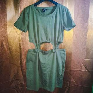 Forever21 3-in-1 Detachable Set - Army Green Large (Brand new, unused)