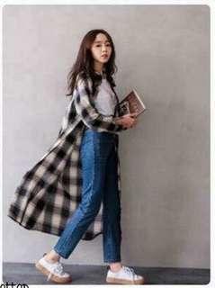 🚚 現貨特價💲490今天訂明天出❤️ #正韓高品質格紋長罩衫襯衫