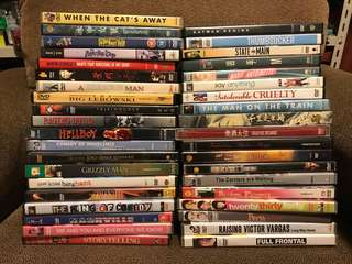 Whole lot of DVDs 39 titles