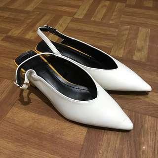 Block heels mule