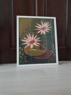 Lily canvas painting