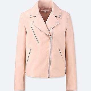 Uniqlo - Women Synthetic Leather Riders Jacket