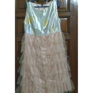 Cute Silver n Pink Dress (Kids-Girls)
