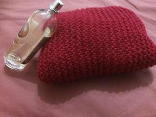 Seamless Stitching, handmade knitted mini-pillow