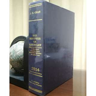 [LAW BOOK] BAR REVIEWER ON LABOR LAW, Chan, 2014 Edition (hardbound)
