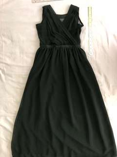 Black long dress/gown custom made Girls