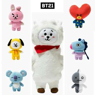 BTS BT21 UNOFFICIAL PLUSH DOLL
