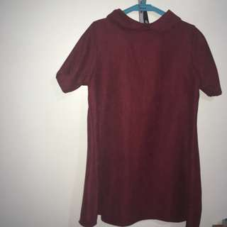 Thailand Velvet Dress Shirt (Maroon)
