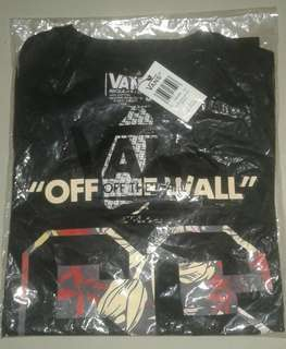 T-shirt vans of the wall