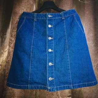 Denim A-Line Skirt - Fits Medium to Large