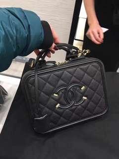 Chanel black medium box