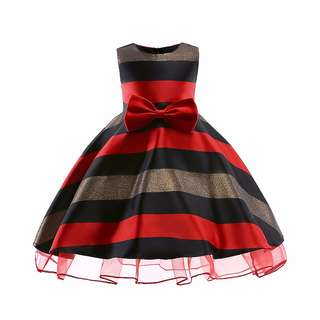 (Pre-order) Kids Princess Dress (Red and Green) #566