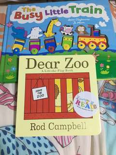 The Busy Little Train and Dear Zoo books