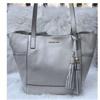 MICHAERL KORS ASHBURY LARGE GRABBAG IN ECRU