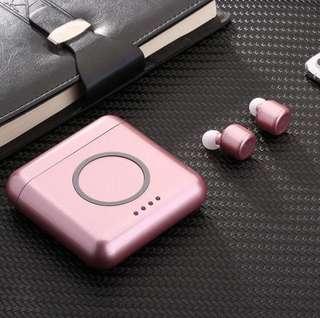 ♥️Lovely Rose Gold X4T♥️ New Arrival - Bluetooth Wireless Earphones/ Earpiece / Earbuds/ Headset with 5600mAh Powerbank