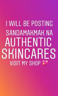 Skincares for sale!