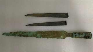 舊三角銅茅頭兵器