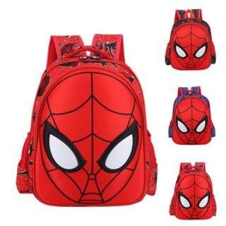 (861)Kids Children Spiderman Cartoon Printed School Bag Shoulders Bag Backpack
