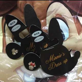 🈹[全新一對] 購自日本迪士尼 Disney Minnie Mickey 米奇米妮耳環