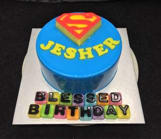 Superman Jelly cake design