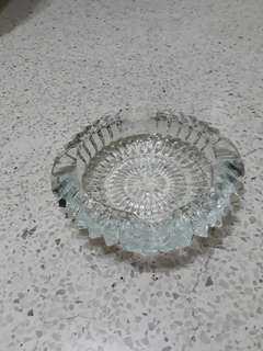 vintage cut glass ashtray ash tray