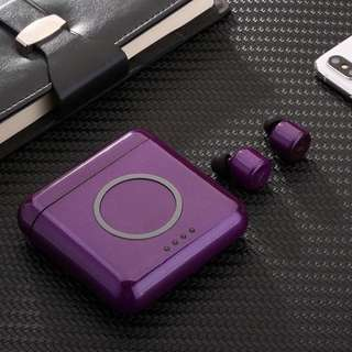 😎Mysterious Purple X4T😎New arrival - Bluetooth Wireless Earphones/ Earpiece / Earbuds/ Headset with 5600mAh Powerbank