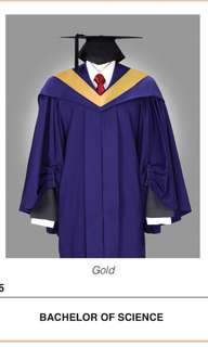NUS graduation gown faculty of Science