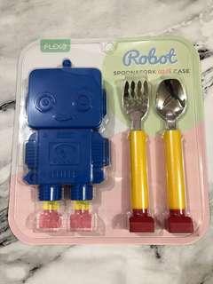 🚚 正韓 機器人 兒童餐具