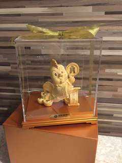 全新鍍金立體巨型金雞擺設飾品