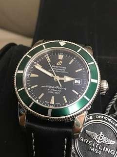 全新 Breitling 綠圈黑面 SuperOcean 綠圈黑面