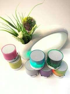 💖 Multifunction Mini LED Portable Bluetooth Speaker Rainbow Color 💖