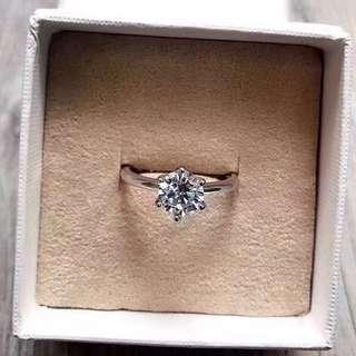 六爪鑽石戒指