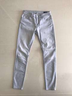 Saba Grey Mid Rise Skinny Jeans Size 25 or 8