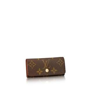 Authentic Louis Vuitton 4 Key Holder Monogram Canvas