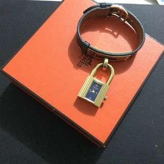 Authentic Hermes Vintage Bracelet Kelly Watch ⌚️lizard leather pattern