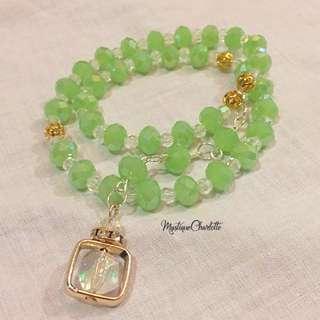 Handmade Tasbih (33 beads) Green