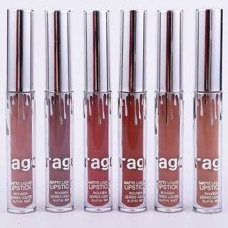 🦋Waterproof Mate Lipstick Elegant Color Nude Lip Gloss Batom🦋