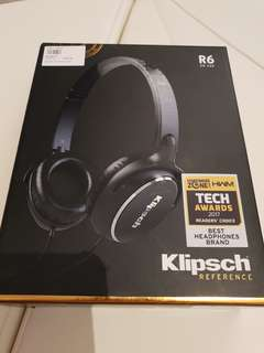 Klipsch Reference R6 On Ear Headphones