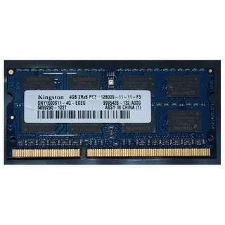 kingston 4GB DDR3-1600 laptop ram