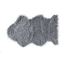 Fur Rug in Grey