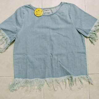 (BNWT)Schmiley Mo denim t shirt