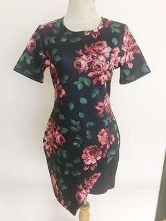 Floral Origami Dress